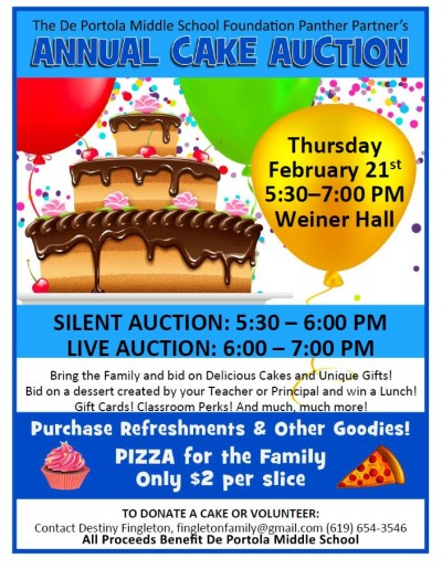 2019 Panther Partners ANNUAL CAKE AUCTION
